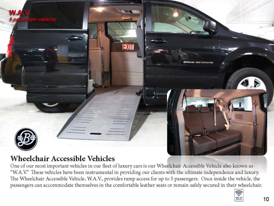 Luxury Van - Wheelchair Accessible