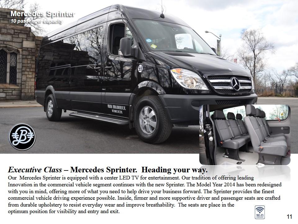 Luxuy Mercedes Sprinter Van