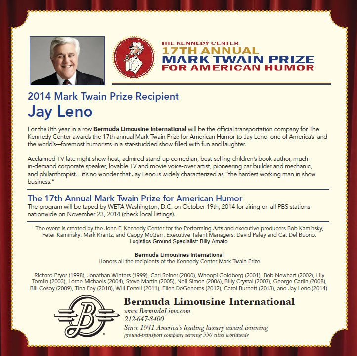 Mark Twain Award 2014