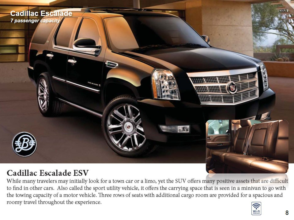 SUV Cadillac Escalade  pax