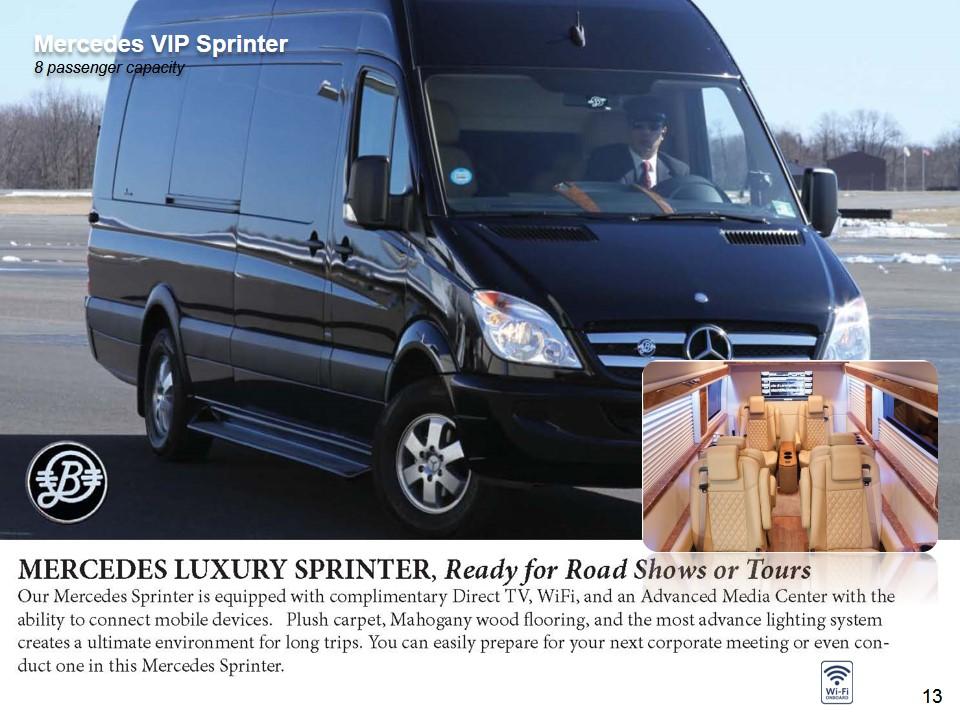 Luxury Van - Mercedes Luxury Sprinter VIP