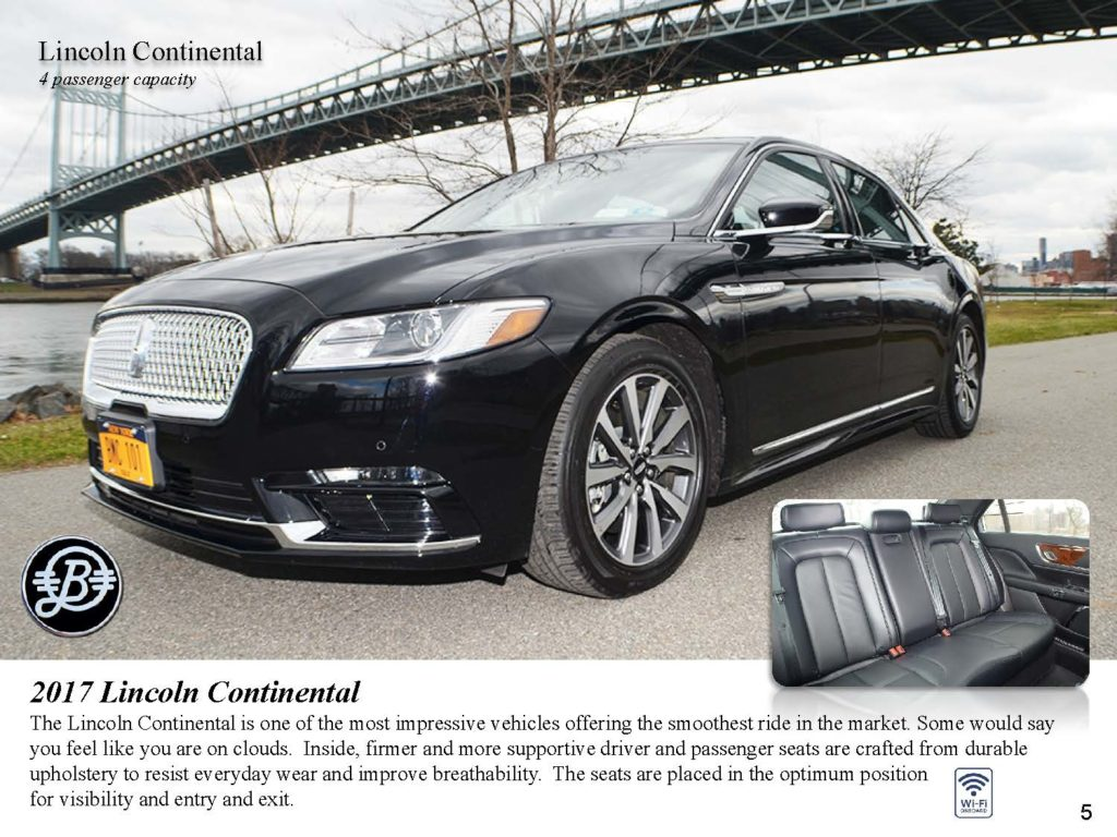 Luxury Chauffeur Service Lincoln MKZ Car Service