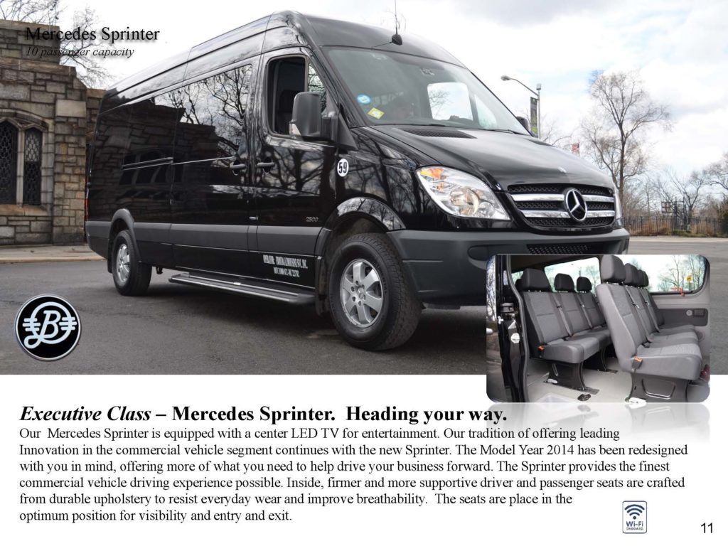 Luxury Van Mercedes Sprinter Bermuda Limousine