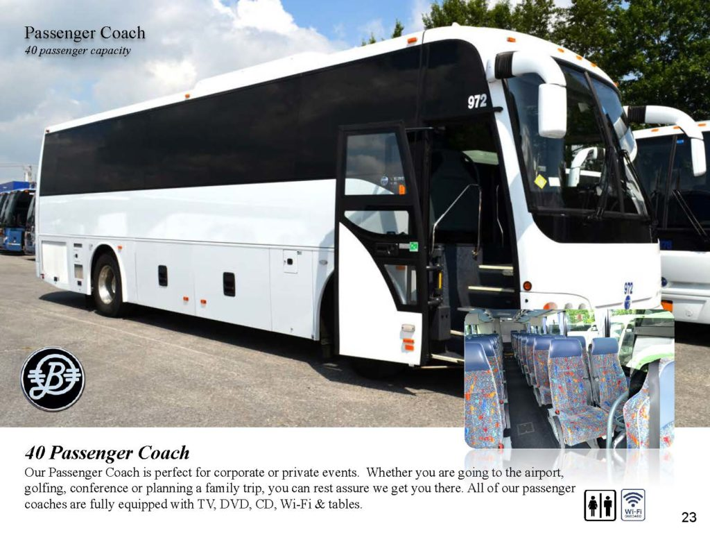 40 passenger mini bus Bermuda Limousine