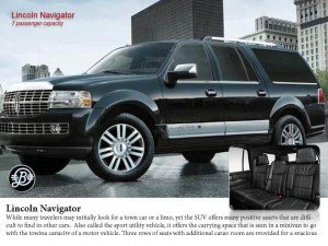 Lincoln Navigator SUV - Chauffeur Service SUV specifications