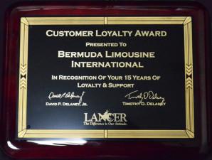 Bermuda Limousine Awarded Customer Loyalty Award